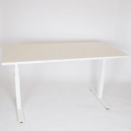 Height adjustable desk for Conference room - 6 leg - Dark Walnut