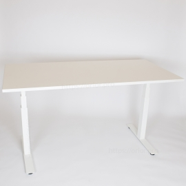 Height adjustable desk for Conference room - 6 leg - Light Beech