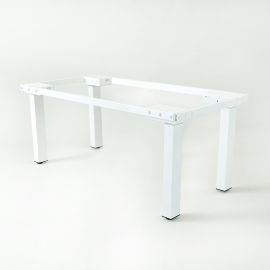 Height adjustable desk for Conference room - 4 leg - White