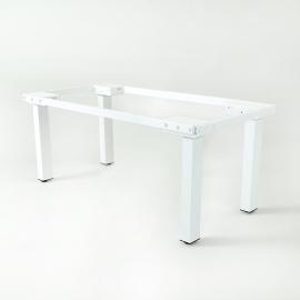 Height adjustable desk for Conference room - 4 leg - Dark Walnut